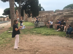 Lecturing in Ostia